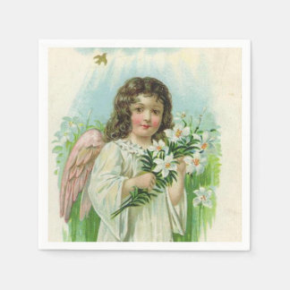 Vintage Easter Angel Holiday paper napkins