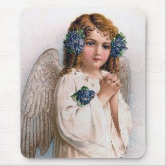 Vintage Easter Angel Mouse Pad