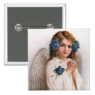 Vintage Easter Angel Pinback Button