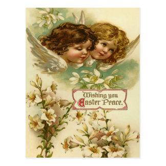 Vintage Easter Angel Postcard