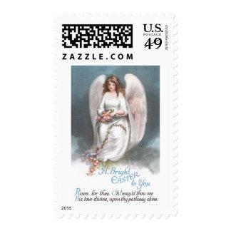 Vintage Easter Angel Weaving Flower Garland Postage Stamp