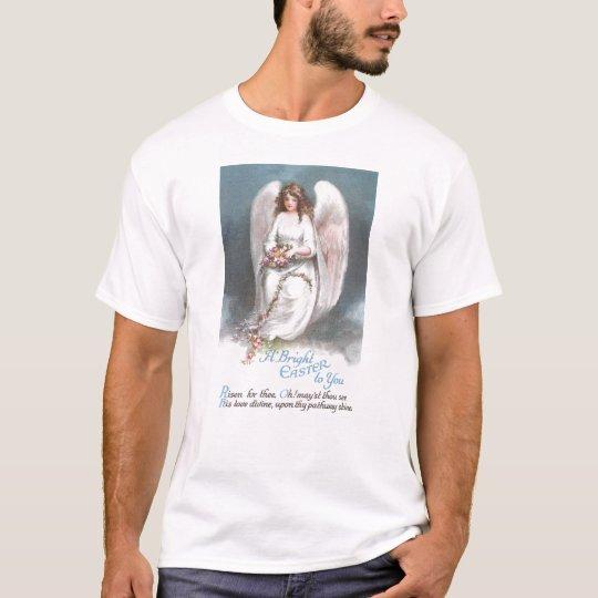 Vintage Easter Angel Weaving Flower Garland T-Shirt