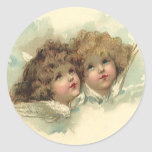 Vintage Easter, Angelic Angels Clouds Heaven Stickers