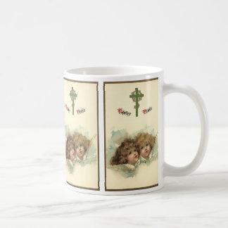 Vintage Easter, Angelic Angels Clouds in Heaven Coffee Mug