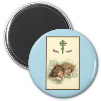 Vintage Easter, Angelic Angels Clouds in Heaven Magnet