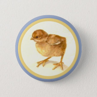 Vintage Easter Baby Chick Pinback Button