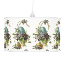 Vintage Easter Basket and Easter Eggs Holiday Pendant Lamp