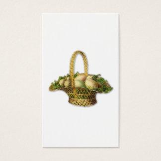 Vintage Easter basket bookmark Business Card