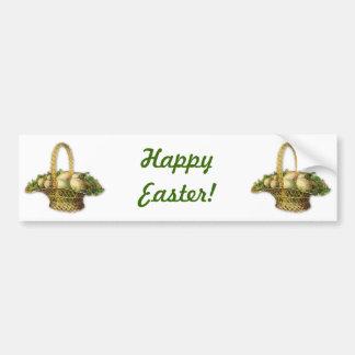 Vintage Easter basket Car Bumper Sticker