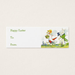 Antique easter business cards templates zazzle vintage easter basket gift tags negle Choice Image