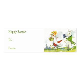 Vintage Easter basket gift tags Business Card