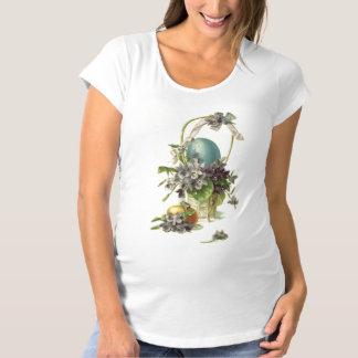 Vintage Easter Basket Maternity T-Shirt