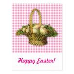 Vintage Easter basket Post Cards