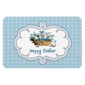 Vintage Easter Basket with Eggs. Gift Magnet