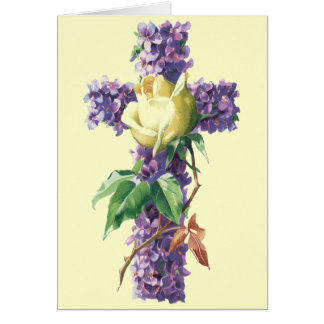 Vintage Easter Blessings Card - Religious