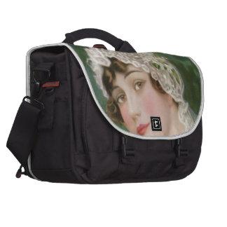 Vintage Easter Bride Laptop Messenger Bag
