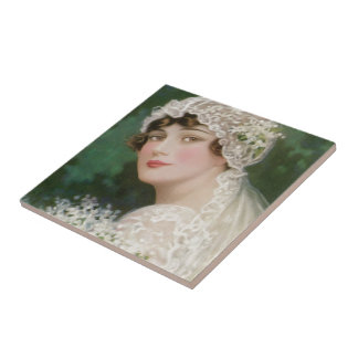 Vintage Easter Bride Tile