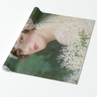 Vintage Easter Bride Wrapping Paper