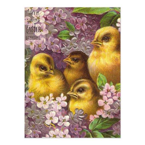 """Vintage Easter Brunch 5.5"""" X 7.5"""" Invitation Card"""