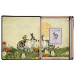 Vintage Easter Bunnies Cover For iPad