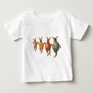 Vintage Easter Bunnies Dancing with Egg Costumes Baby T-Shirt