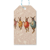 Vintage Easter Bunnies Dancing with Egg Costumes Gift Tags