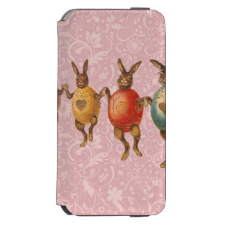 Vintage Easter Bunnies Dancing with Egg Costumes iPhone 6/6s Wallet Case