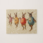 Vintage Easter Bunnies Dancing with Egg Costumes Jigsaw Puzzle