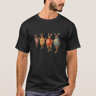 Vintage Easter Bunnies Dancing with Egg Costumes T-Shirt