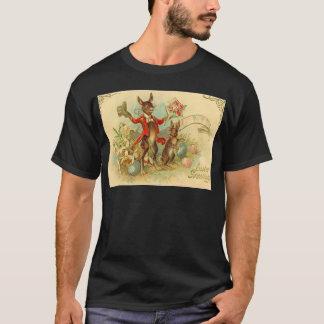 Vintage Easter Bunnies Easter Card T-Shirt