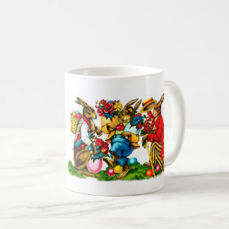 Vintage Easter Bunnies. Easter Gift Mugs