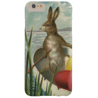 Vintage Easter Bunnies in a Boat with Easter Eggs Barely There iPhone 6 Plus Case