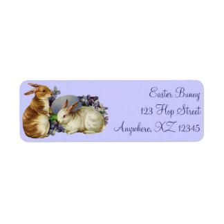Vintage Easter Bunnies Label