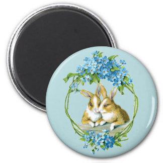 Vintage Easter Bunnies Magnet