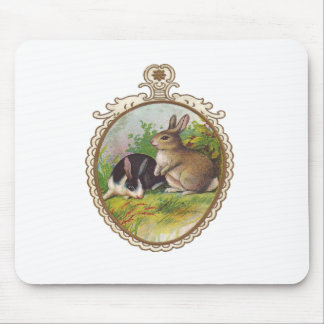 Vintage Easter Bunnies Mouse Pad