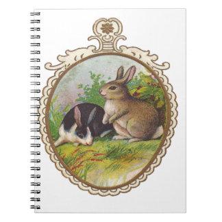 Vintage Easter Bunnies Notebook