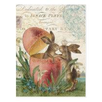 Vintage Easter bunnies notecard