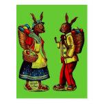 Vintage Easter Bunnies Post Cards