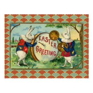 Vintage Easter Bunnies Postcard