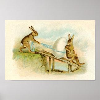Vintage Easter Bunnies Posters