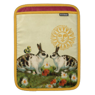 Vintage Easter Bunnies Sleeves For iPads