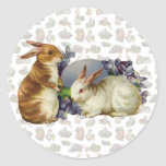 Vintage Easter Bunnies Stickers