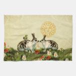Vintage Easter Bunnies Towel