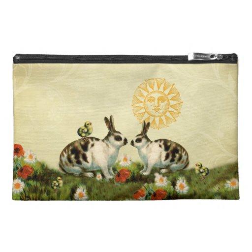 Vintage Easter Bunnies Travel Accessories Bags