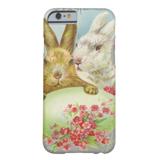 Vintage Easter Bunnies With Easter Egg Easter Card iPhone 6 Case