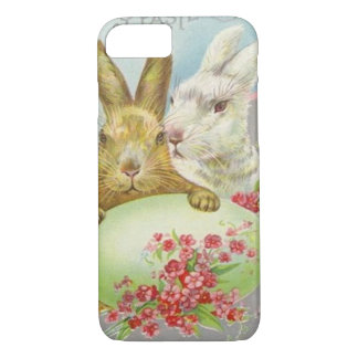 Vintage Easter Bunnies With Easter Egg Easter Card iPhone 8/7 Case