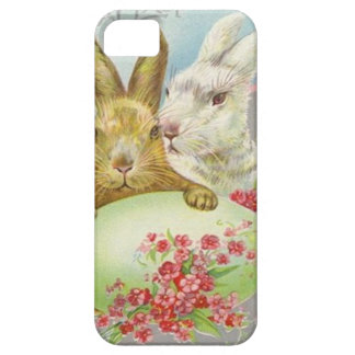 Vintage Easter Bunnies With Easter Egg Easter Card iPhone SE/5/5s Case