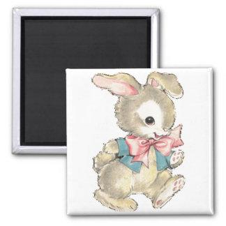 Vintage Easter Bunny 2 Inch Square Magnet