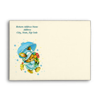 Vintage Easter Bunny and Chick. Easter Envelopes