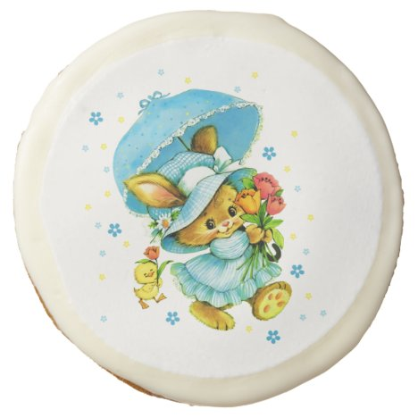 Vintage Easter Bunny and Chick Easter Gift Cookies